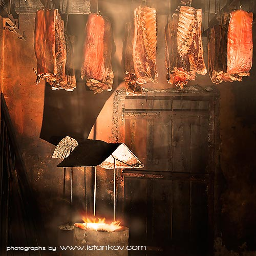 Montenegrin way of preserving meet is smoked and air dried, giving the pork dinstincitve taste and texture